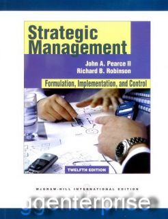 Strategic Management 12th Edition Robinson Pearce 12E