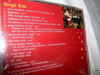 Christmas Boston Pops Keith Lockhart Sleigh Ride New CD