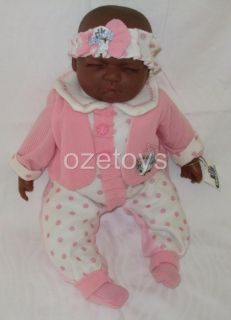 Baby Doll Vinyl Face Soft Body Pink White MIA Dark
