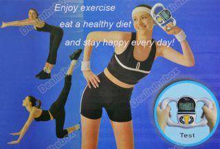Digital Body Fat Analyzer Meter Health Monitor BMI Mass Silver Male