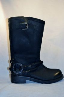 Diesel Womens BOGARDE LEATHER BOOT casual shoes size 7 5 NEW BLACK