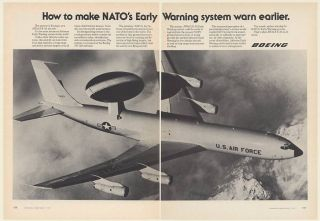 1977 US Air Force Boeing AWACS E 3A Aircraft Airborne Early Warning 2