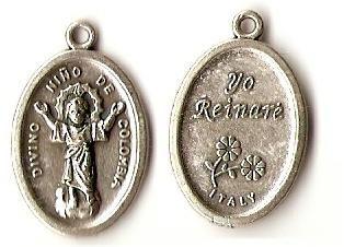Medal Silver Patron Divino Nino Columbia Bogata Christ