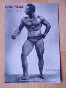 Ironman Bodybuilding Muscle Mag Barton Horvath 1945