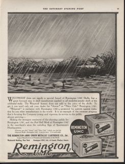 FP1918 Remington UMC Lynn Bogue Hunt Shell Box Duck Waterfowl Mallard