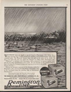 FP1918 Remington UMC Lynn Bogue Hunt Shell Box Duck Waterfowl Mallard