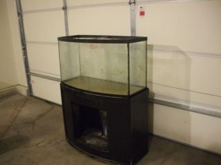 46 Gallon Glass Fish Tank Stand Bow Front