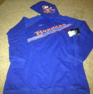 Boise State Broncos Sweatshirt Hoodie Womens Medium Blue Nike NCAA