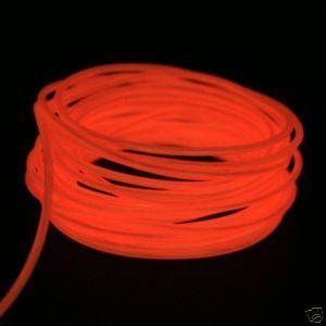 Sound Activated El Wire Neon Dancing Bright Orange 15