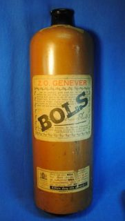 Large Old Wall Wooden Bottle Sign Bols Gin 1940s 30S