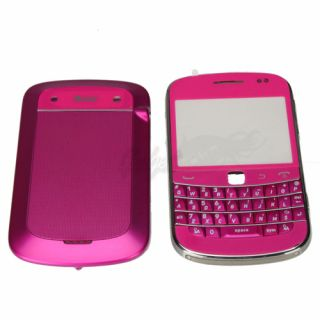Full Housing Cover Case for Blackberry Bold 9900 Rose Red with Silver