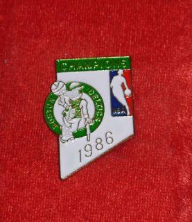 1986 Boston Celtics NBA Basketball Champions Hat Pin