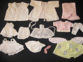 25pc Vintage/Antique Doll & Baby Doll Reborn Barbie Clothes Lot  MANY
