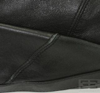 Botkier Black Leather Grommet Oversized Shoulder Bag