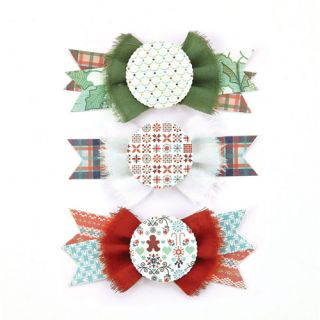 Nordic Holiday Collection   Christmas   Layered Stickers   Bowties