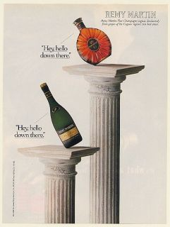 Fine Champagne Cognac XO Special VSOP Bottles Hello Print Ad