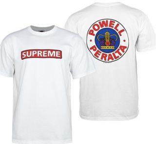Old School Powell Peralta Supreme Bones Brigade T Shirt White Tee