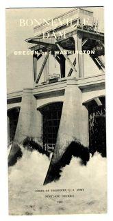 1950 Bonneville Dam Brochure Washingon Oregon Corps of Engineers