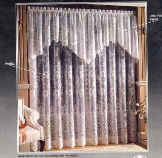 jacquard lace emily lace curtain panel new with tags nwt