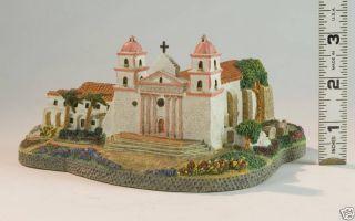 California Mission Santa Barbara Hand Crafted Sculpture