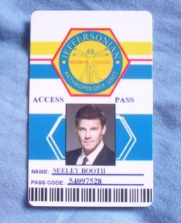 Bones Special Agent Seeley Booth Jeffersonian ID Card