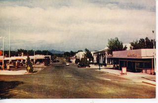 Boulder City Nevada Downtown Street Scene Vintage Postcard Boulder Dam