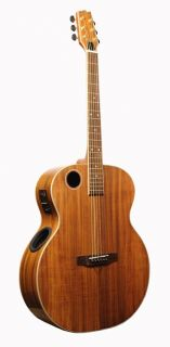 New Pro Quality Boulder Creek Jumbo Body Acoustic Electric Guitar Koa