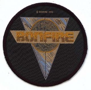 Bonfire Logo Heavy Metal Music Band Woven Patch