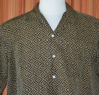Polo by Ralph Lauren Bonnard Short Sleeve Black Brown Silk Linen Shirt