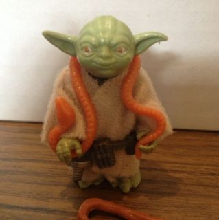 Vintage Star Wars Yoda Orange Snake Complete Nice A