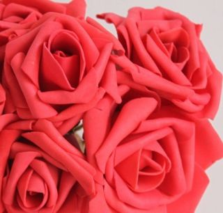 Flowers Heads Red Roses Bridal Wedding Floral Bouquets Wholesale