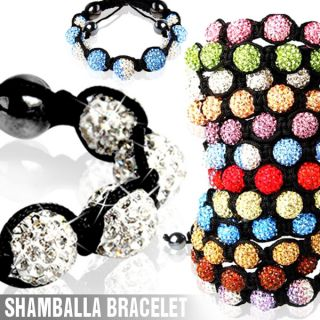Shamballa Bracelet Crystal Disco Ball Friendship Gift Clay Ring
