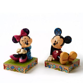 Home Decor (4026094)   Mickey and Minnie Mouse Bookends 7 H