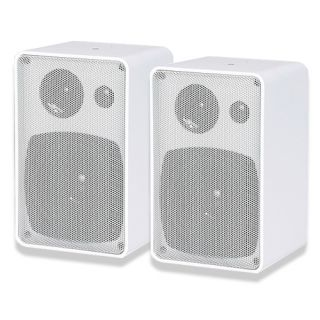 Way Home Indoor Outdoor Surround Sound Bookshelf Speakers White
