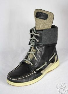SPERRY Top Sider Ladyfish Black Womens Shoes Boots New size 7