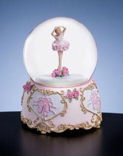 San Francisco Music Box Ballerina Water Globe Music Box New