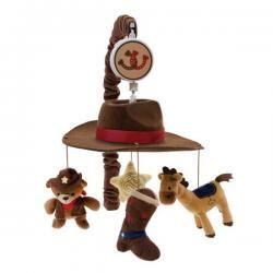 & Horses Cowboy Western Themed Baby Boy Nursery Crib Musical Mobile