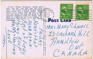 Bozeman Montana Postcard Western Gold Dredge In Operation Linen