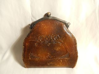 Bosco Hand Tooled Leather Vintage Purse 1911