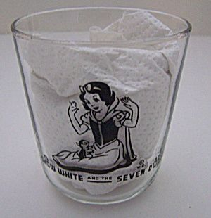 Vintage 1938 Bosco Disney Snow White The Seven Dwarfs Glass Snow White