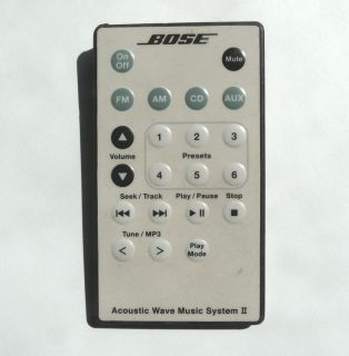 Bose Acoustic Wave Music System II Remote Control White
