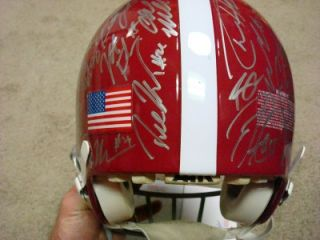 2011 Alabama National Champion Team Signed Real Game Used Full Size