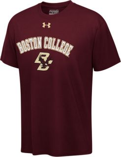 Boston College Eagles Maroon Under Armour Youth Tech T Shirt