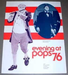 Boston Pops 1976 Fiedler Program Sherrill Milnes