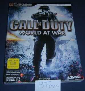 of Duty World at War Official Strategy Guide PC PS3 360 DS Brady Games