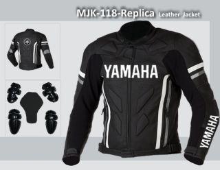 Motorcycle motorbike Biker Racing Leather Jacket MJK 118 Replica US 40