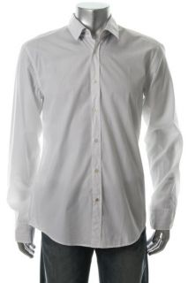 Hugo Boss New Ronny White Long Sleeve Slim Fit Button Down Shirt L