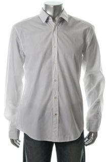 Hugo Boss New Ronny White Long Sleeve Slim Fit Button Down Shirt L