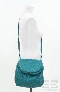 BOTTEGA VENETA Vintage Teal Intrecciato Nappa Leather Crossbody Bag