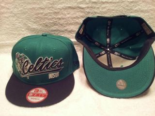 BOSTON CELTICS NBA NEW ERA 9FIFTY SNAPBACK HAT CAP GREEN BLACK
